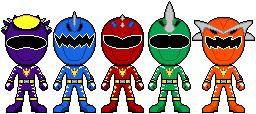 Dino Thunder Auxiliar Rangers by gabitegross