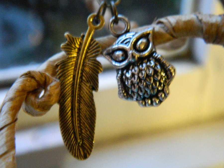 Owl and Feather Earrings by thepapercraftcouple