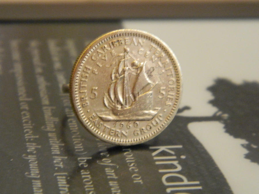 British Caribbean 5 Cent Ring by thepapercraftcouple