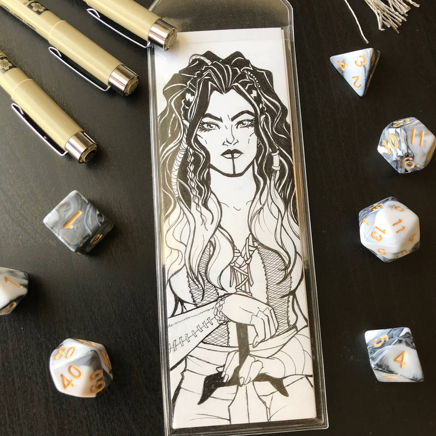 Critical Role Bookmark: Yasha by callyanncreates