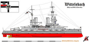 Alternative battleship Wittelsbach by alternathistory