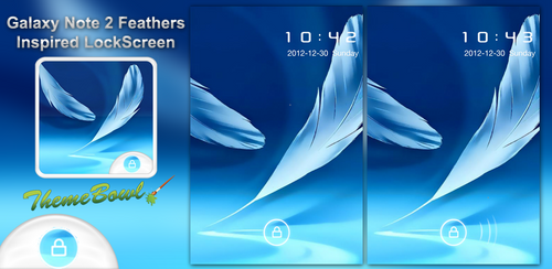 Galaxy Note 2 Feathers LockScreen Preview