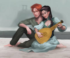 Denna's Stolen the Lute by Osfolio