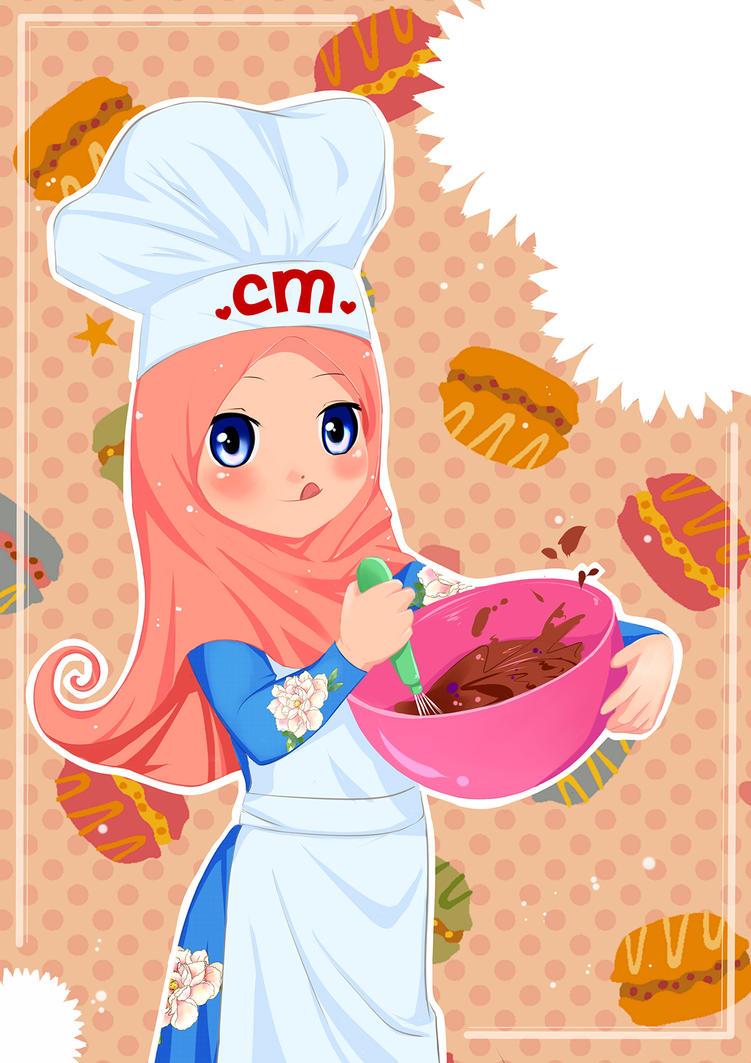 Kumpulan Animasi Koki Muslimah Gokil Abis
