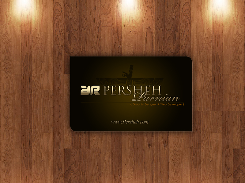 Persheh Business Card Sample  By Mehrdadsml On Deviantart