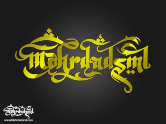 Mehrdadsml typography logo by mehrdadsml