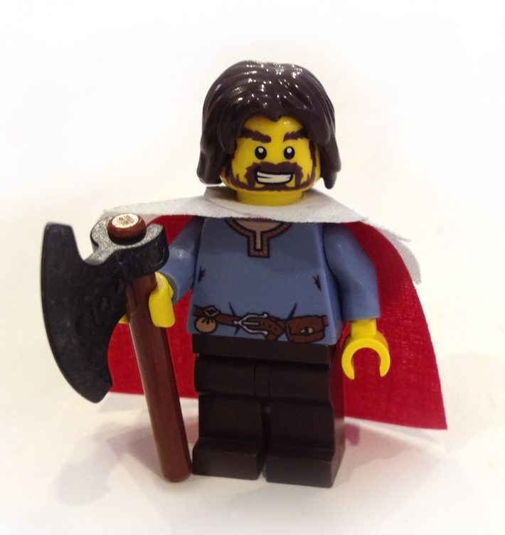 Lego Viking (custom torso and cape) 01 by Edward-the-Red on