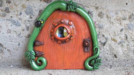 Creepy Pumpkin Fairy Door by diablosbelle