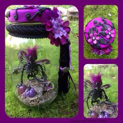 Purple Dead Fairy Jar by diablosbelle