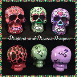 Sugar Skulls  by diablosbelle