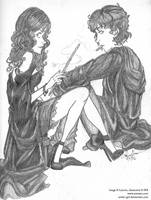 Bellatrix and Regulus by antler-girl