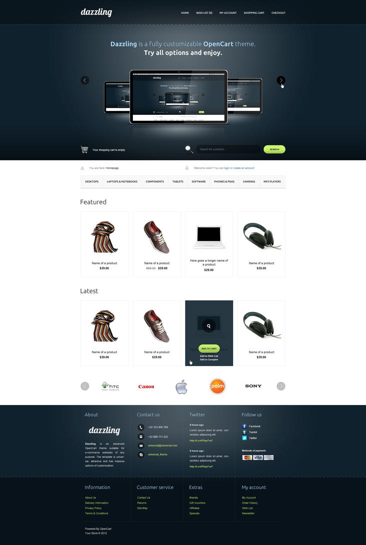 Dazzling - OpenCart Responsive Theme by SlaYerprk