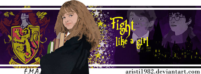 Fight like a girl - Series 13 - Hermione by aristi1982