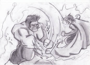 BA 3x15:Hulk vs Superman by nuvalo