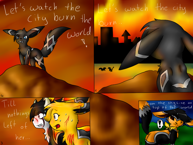 Darius watches the city burn by CrispyCh0colate