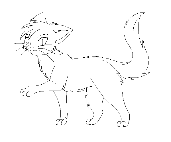 Free warriors lineart by crispych0colate on deviantart for Warrior cats coloring pages