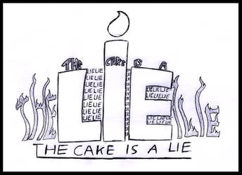The cake is a lie typo