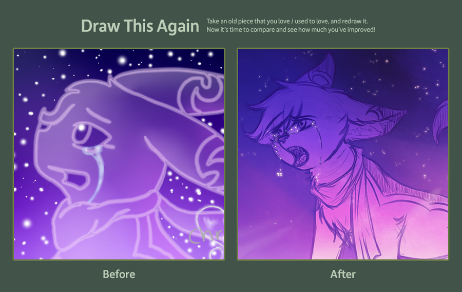 Draw this again Crying Starlight by CrispyCh0colate