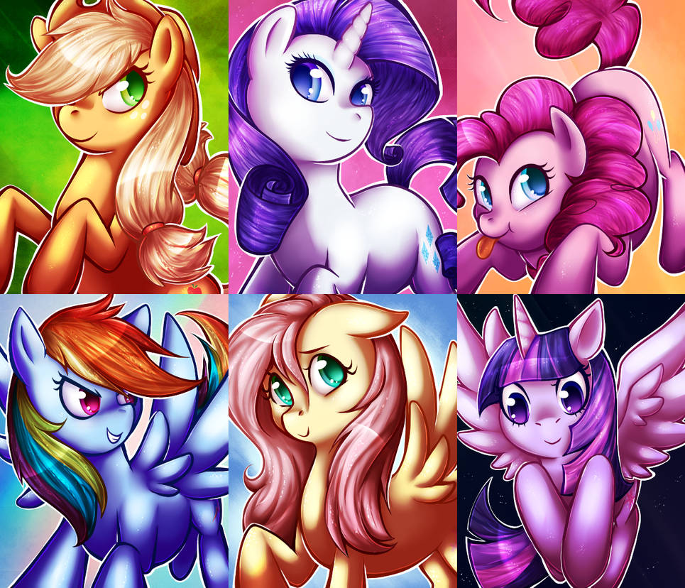 MLP charms by CrispyCh0colate