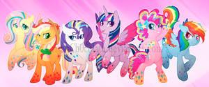 Main 6 Rainbow power! by CrispyCh0colate