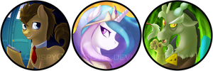 Buttons for Galacon by CrispyCh0colate