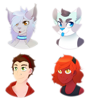 Headshot Commission batch by CrispyCh0colate