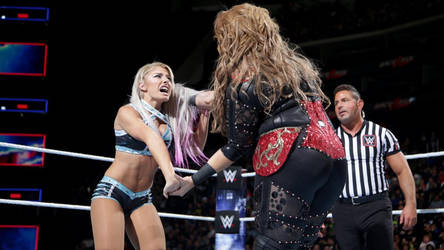 WWE - Nia Jax vs Alexa Bliss 2 by NyoTengu22