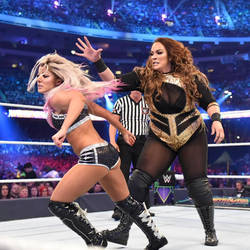 WWE - Nia Jax vs Alexa Bliss 3 by NyoTengu22
