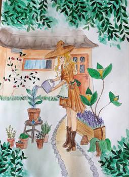 Witch in the garden