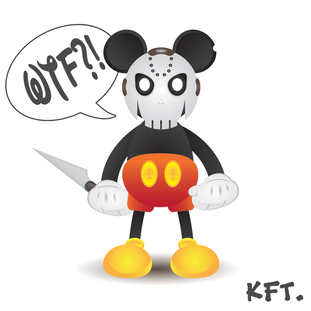 Psycho Mickey by x-KFT-x on DeviantArt