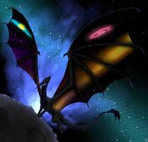 Universe dragon by Sintarija