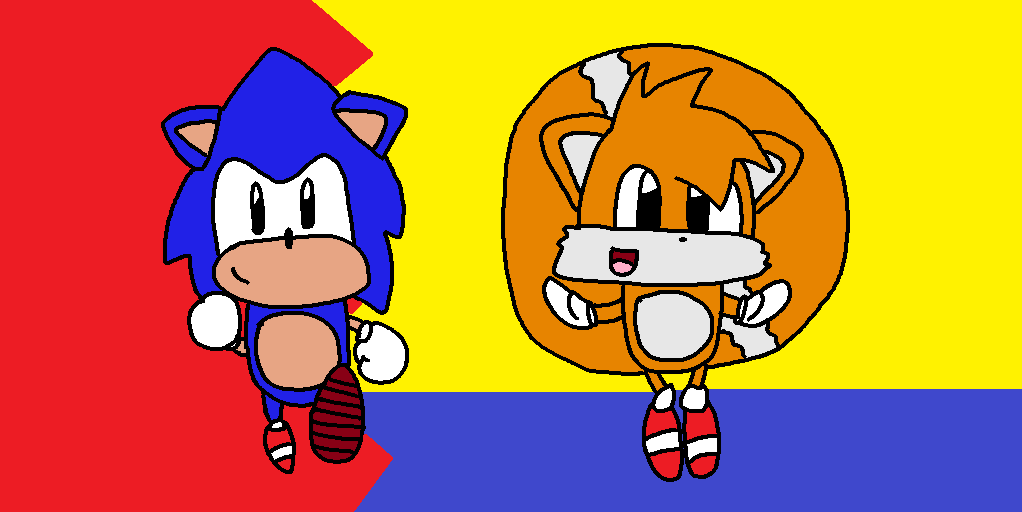 Sonic and Tails are here! by genny03