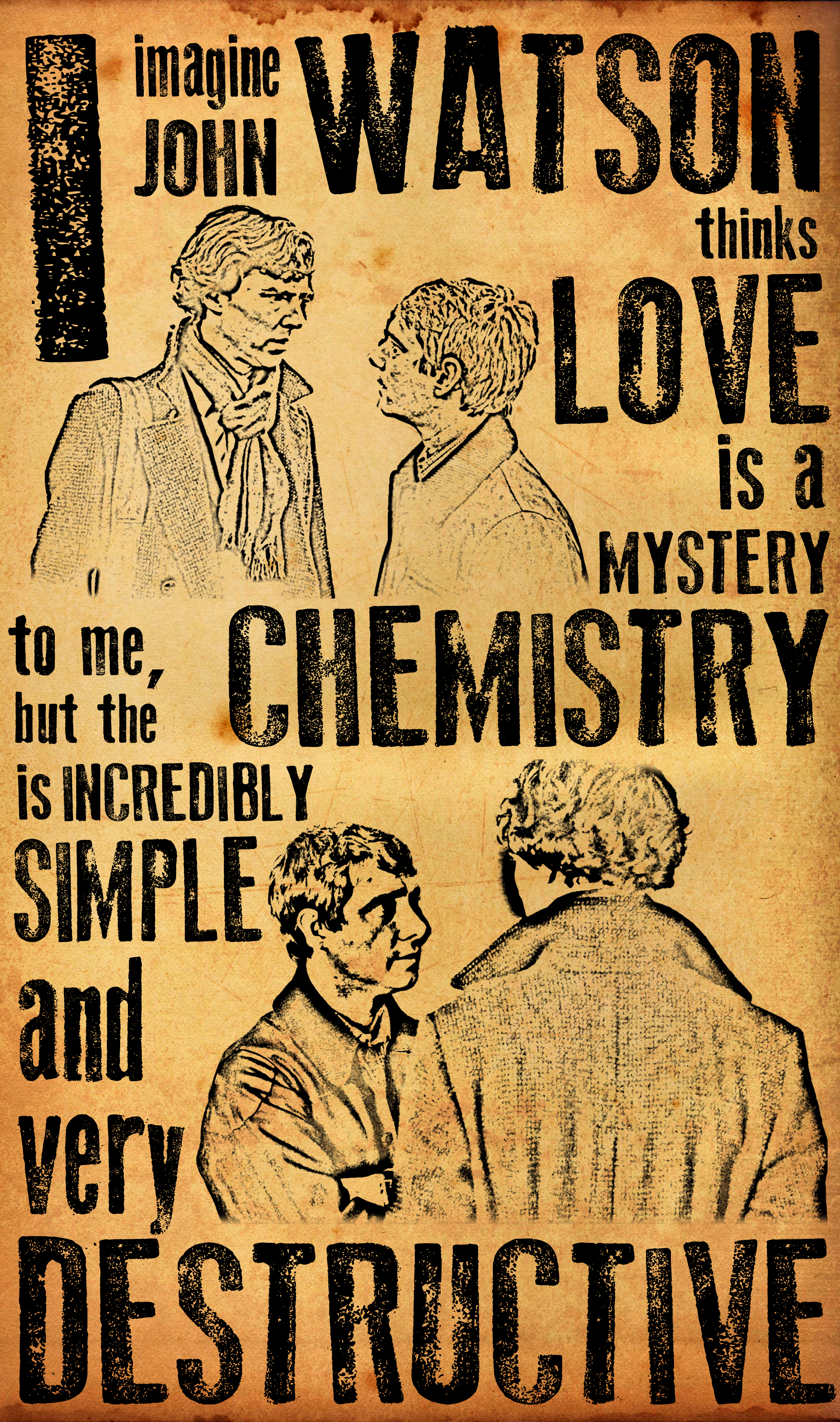 Sherlock Fan Art Wallpaper Sherlock The Chemistry Is Incredibly Simple By Rosterlu