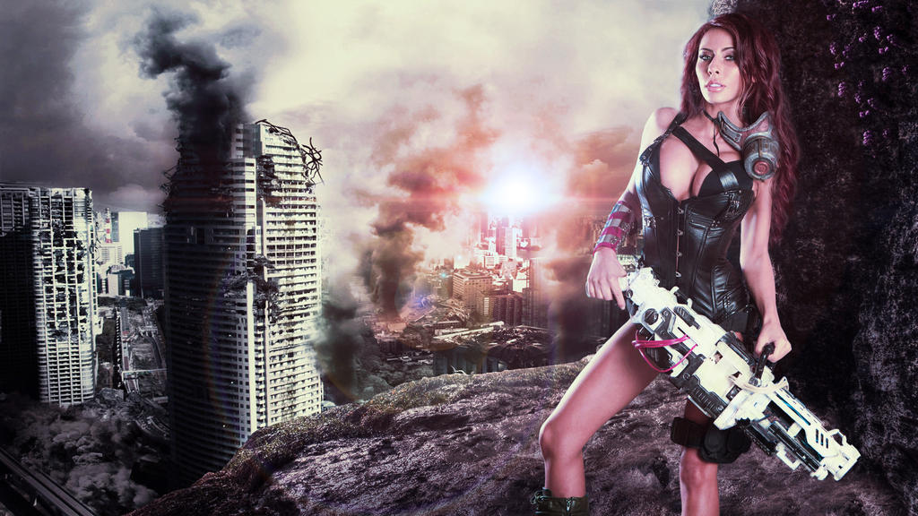 Madison Ivy Destroyed City Wallpaper 4k By Mrlechuck