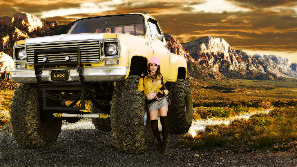 Nikki Benz Monster Truck Wallpaper 4k By Mrlechuck On Deviantart