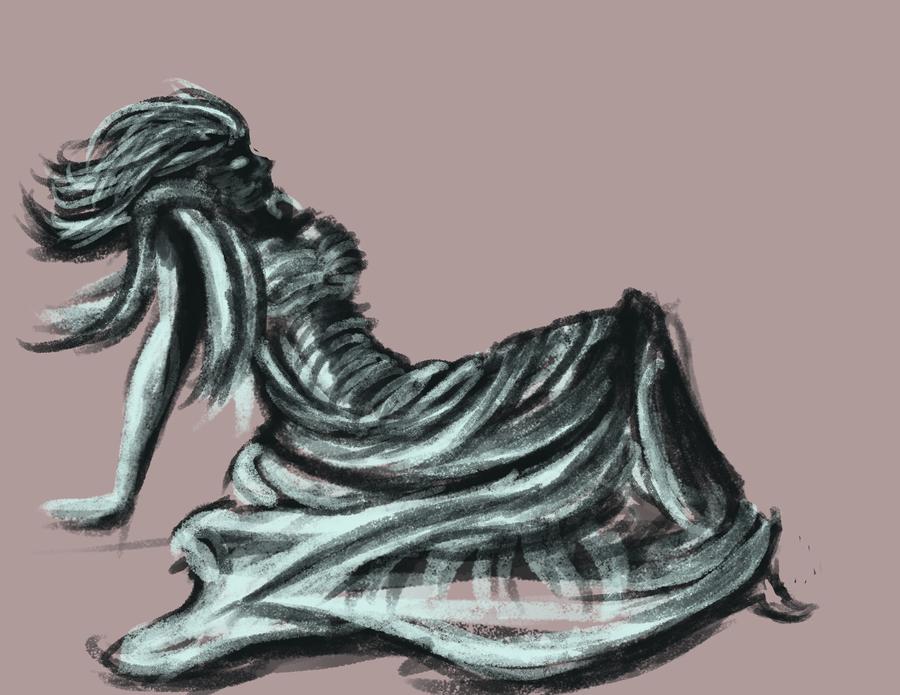 Flowy cloth by LDethHorse