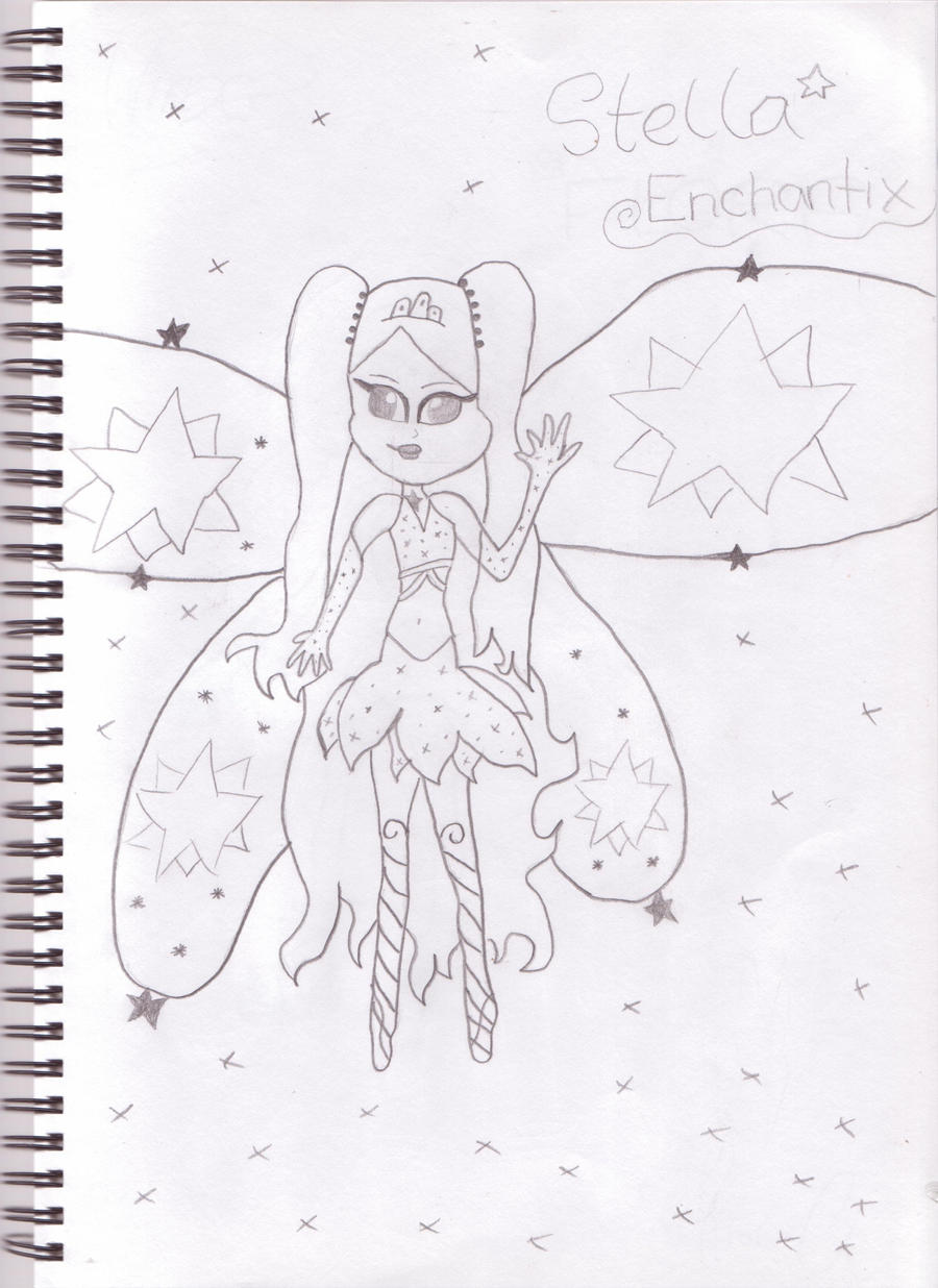 Stella enchantix drawing by sassywinx on deviantart for Stalla ovini dwg