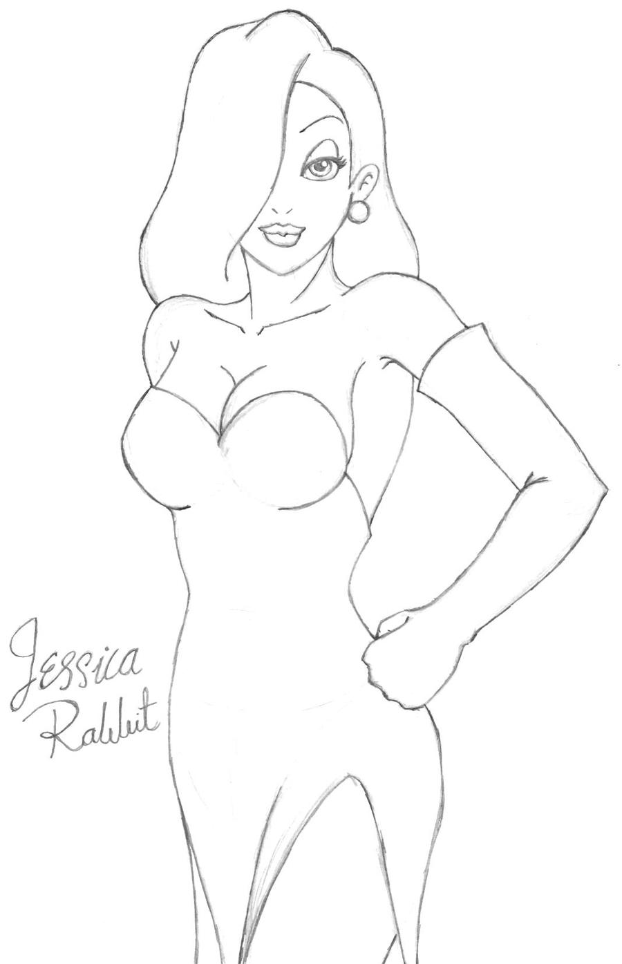 jessica rabbit by aeifs on deviantart