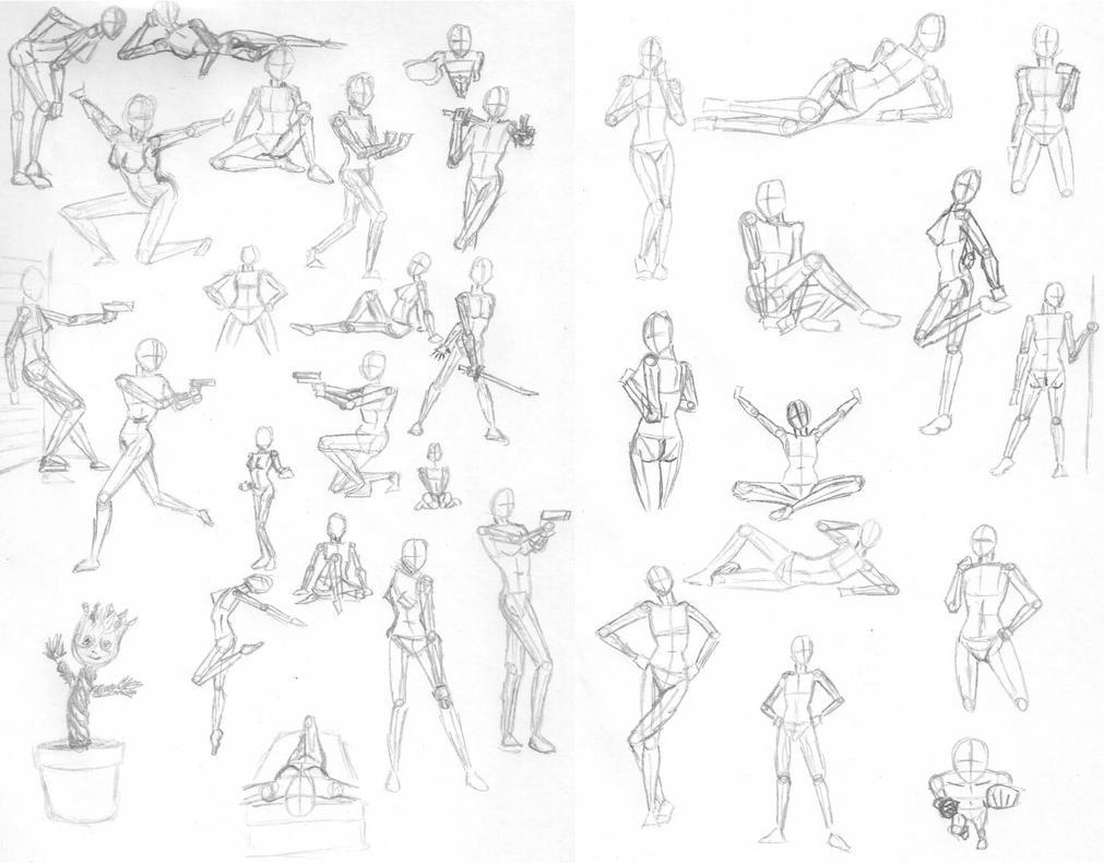 Sketch Poses 02-09-2014 by AEIFS