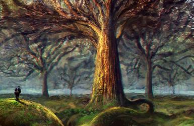 Speedpaint Forest by Lirerive