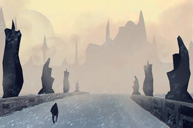 Bridge in the fog speed by Lirerive