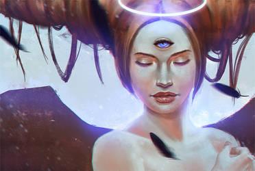 Three-eyed angel by Lirerive
