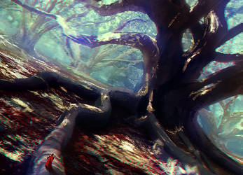 Forest of giant trees by Lirerive