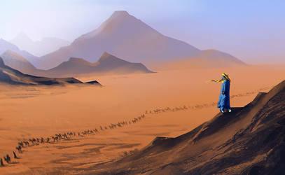 Desert trek by Lirerive