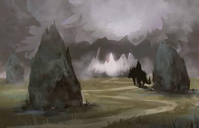 Misty path by Lirerive