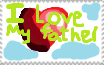I love my father stamp by Bunny897