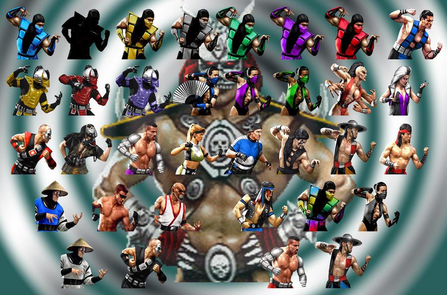 Mortal Kombat 3 Characters by JadeZenRaven