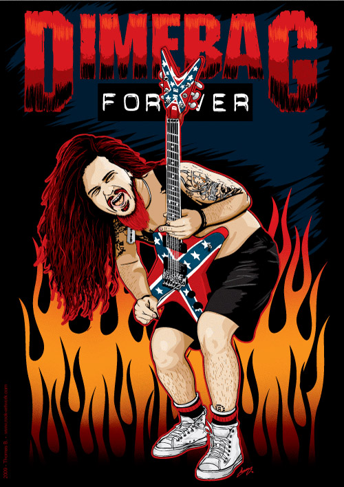 dimebag darrell tribute by rock artwork on deviantart