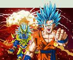 Goku SSJGSS2 VS Stronger God