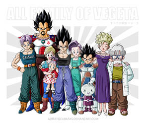 All family of Vegeta
